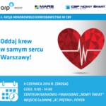 Przedwakacyjna zbiórka krwi w centrum Warszawy