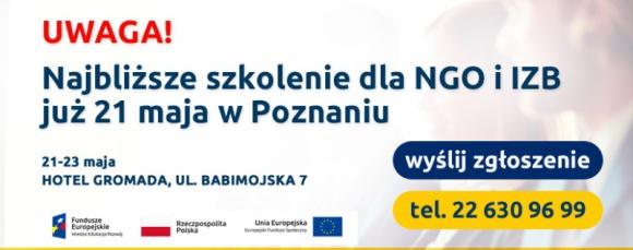 Bezpłatne szkolenie w Poznaniu dla NGO oraz Izb Gospodarczych! BIZNES, Fundusze unijne - Zapraszamy na bezpłatne szkolenie w Poznaniu dla pracowników NGO oraz Izby Gospodarczych w celu przygotowania do uczestniczenia w procesie konsultacji publicznych. Nasi eksperci przedstawią także wchodzące w życie zmiany w prawie gospodarczym, prawie pracy.