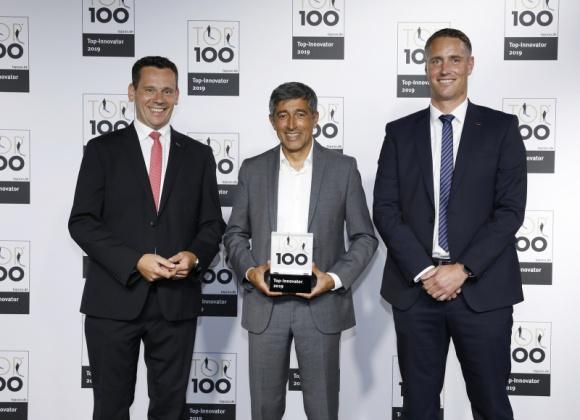"""fischer nagrodzony prestiżowym tytułem Top Innovator BIZNES, Firma - fischer wiedzie prym wśród firm innowacyjnych sektora MŚP w Niemczech. Konsekwentne realizowanie tej polityki, zaowocowało przyznaniem tytułu """"Top 100""""."""