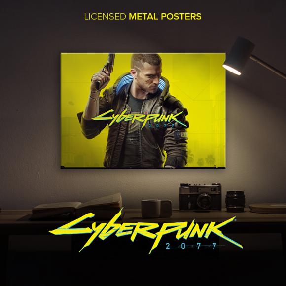 Metalowe plakaty z Cyberpunk 2077 hitem w Stanach Zjednoczonych? BIZNES, Firma - Polska firma Displate, będąca liderem wśród globalnych producentów metalowych posterów, poszerza współpracę z CD PROJEKT RED. W jej ramach wykona dla studia serię plakatów opartych na motywach z gry Cyberpunk 2077.