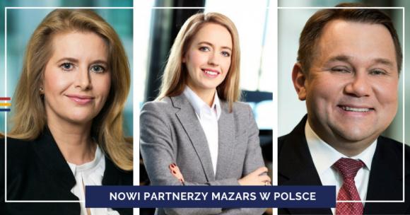 Mazars powołuje trzech nowych partnerów w Polsce BIZNES, Firma - Międzynarodowa grupa audytorsko-doradcza Mazars w związku z dynamicznym rozwojem powołała trzech nowych Partnerów w Polsce: Jarosława Bochenka, Kingę Baran oraz Małgorzatę Pek-Kocik