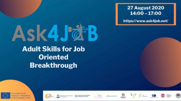 ASK4JOB - Konferencja online dot. bezpłatnej ścieżki edukacyjnej BIZNES, Fundusze unijne - Podczas konferencji przedstawione zostaną rezultaty wypracowane w międzynarodowym konsorcjum, z których już teraz bezpłatnie korzystać mogą doradcy zawodowi, trenerzy i osoby związane z edukacją dorosłych.
