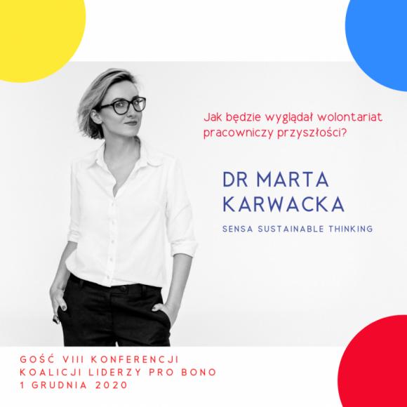 Jak będzie wyglądał wolontariat pracowniczy przyszłości? BIZNES, Firma - Od lat firmy coraz więcej uwagi poświęcają wolontariatowi pracowniczemu. Jak będzie on wyglądał w przyszłości? Szczególnie po trudnym czasie pandemii? O tym 1 grudnia w czasie VIII konferencji Koalicji Liderzy Pro Bono opowie dr Marta Karwacka z SENSA Sustainable Thinking.